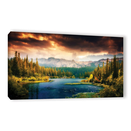 Brushstone Mountain View Gallery Wrapped Canvas Wall Art, One Size , Green