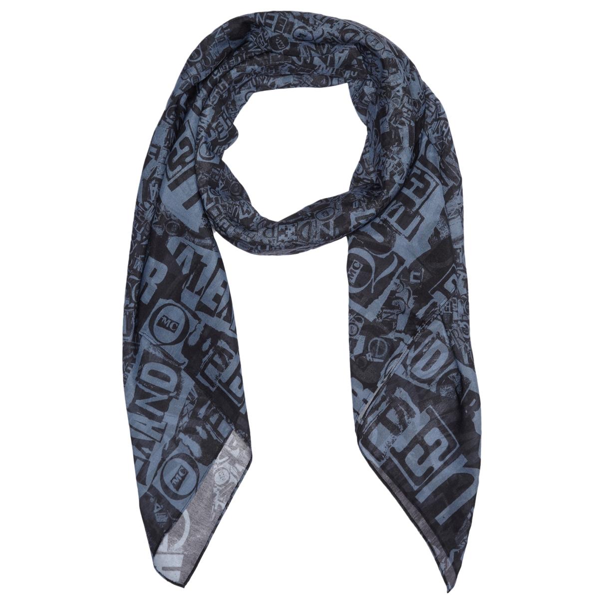 Mcq - Foulard   pour femme en coton - bleu