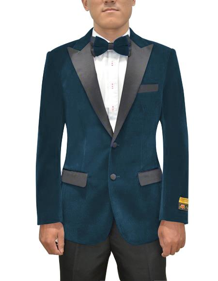 Mens Two Button Peak Lapel Prussian Single Breasted Suit