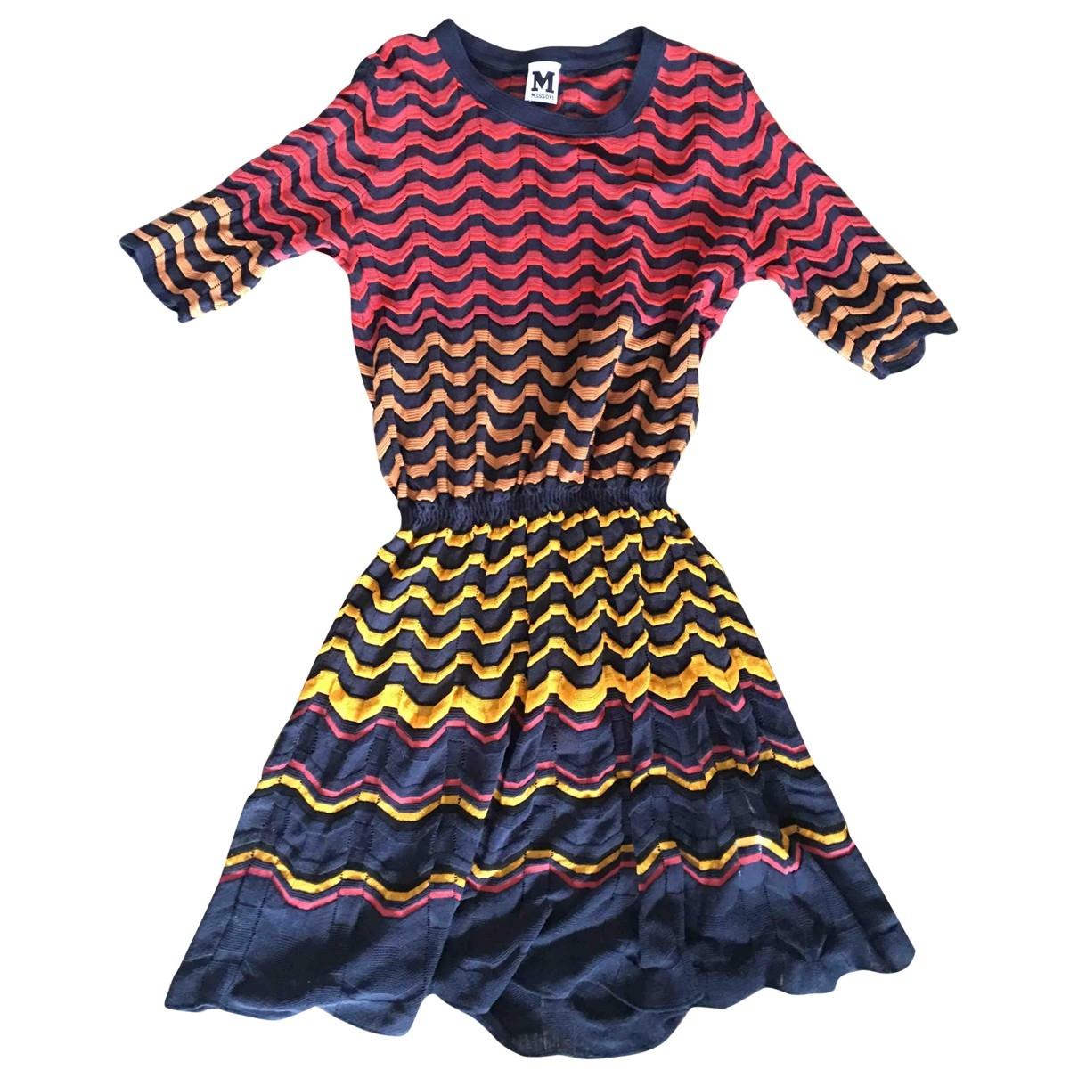 M Missoni \N Multicolour Cotton - elasthane dress for Women 38 FR