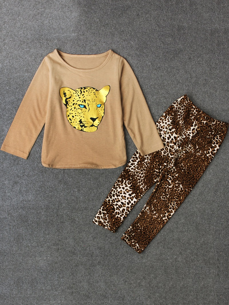 Ericdress Leopard Print 2 Pieces Girls' Outfit