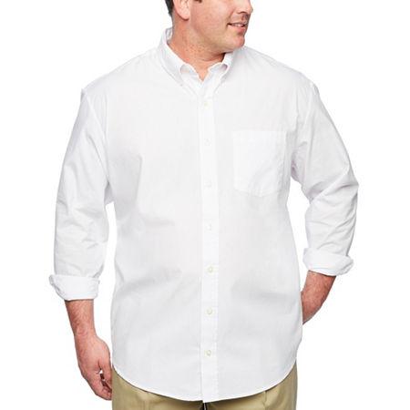 IZOD Essential Woven Long Sleeve Shirt-Big & Tall, 2x-large , White