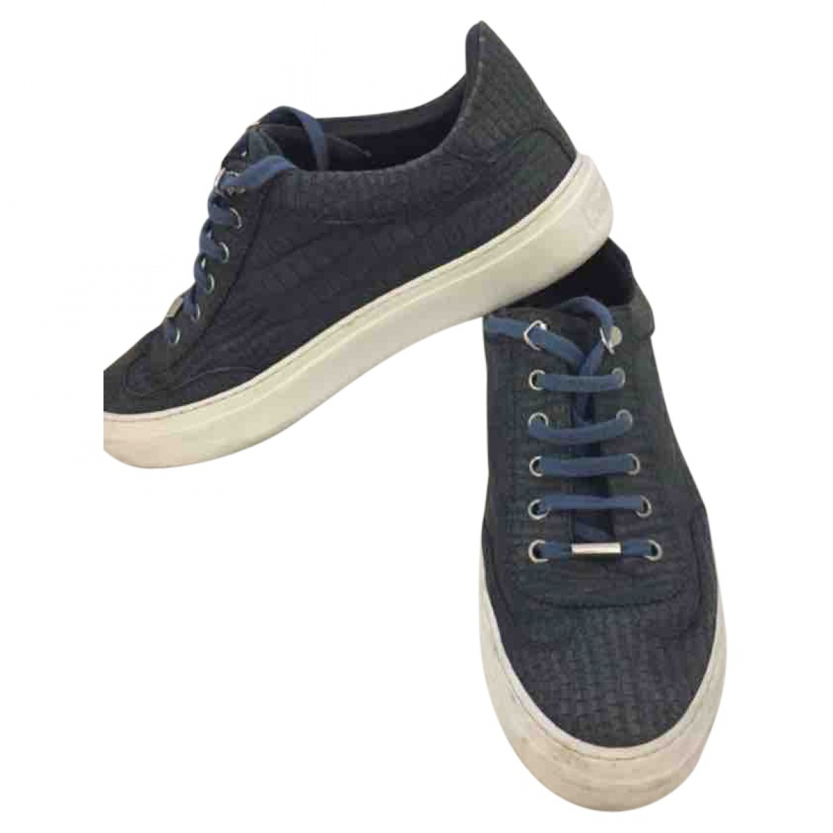 Jimmy Choo \N Sneakers in  Marine Leder