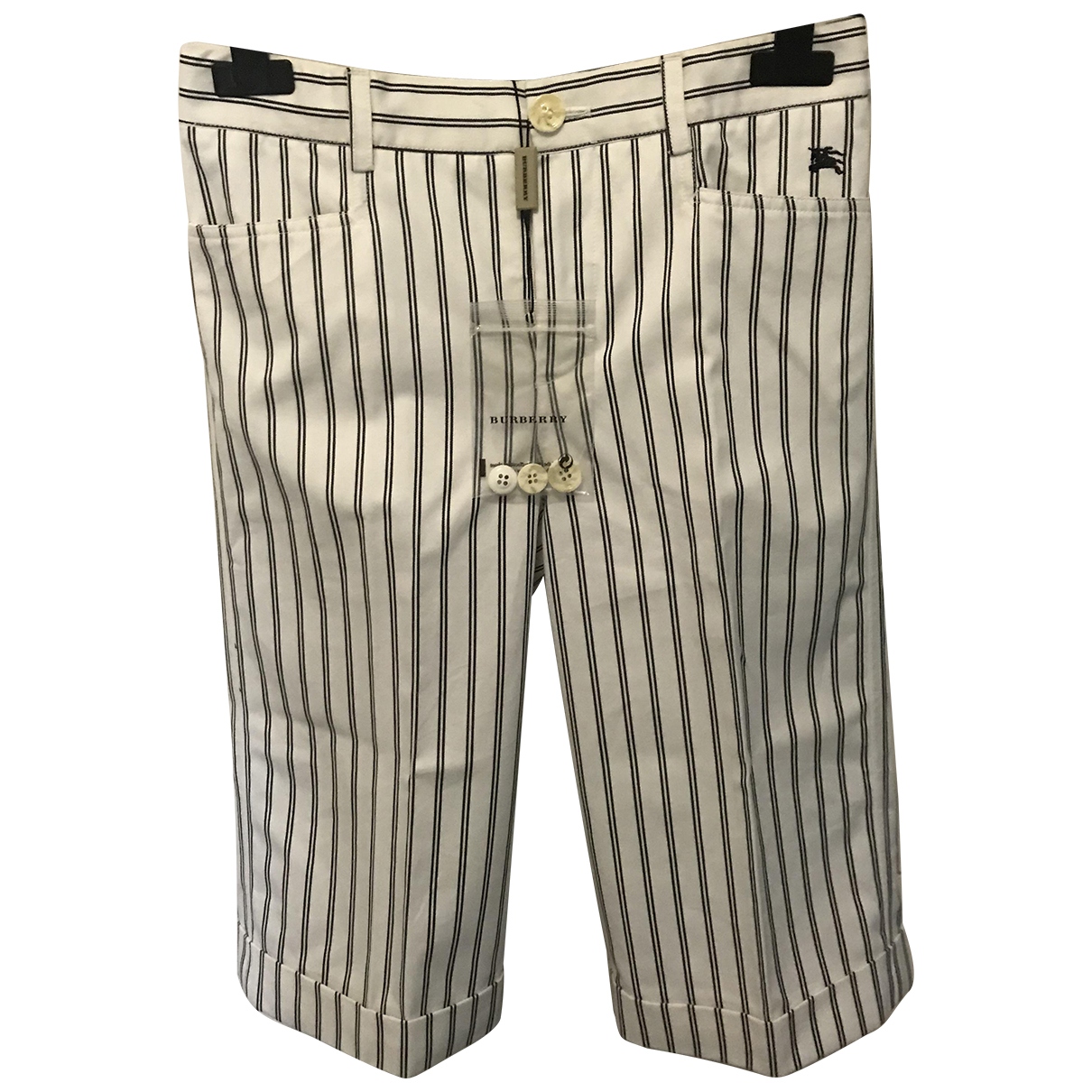 Burberry N White Cotton Shorts for Kids 10 years - up to 142cm FR