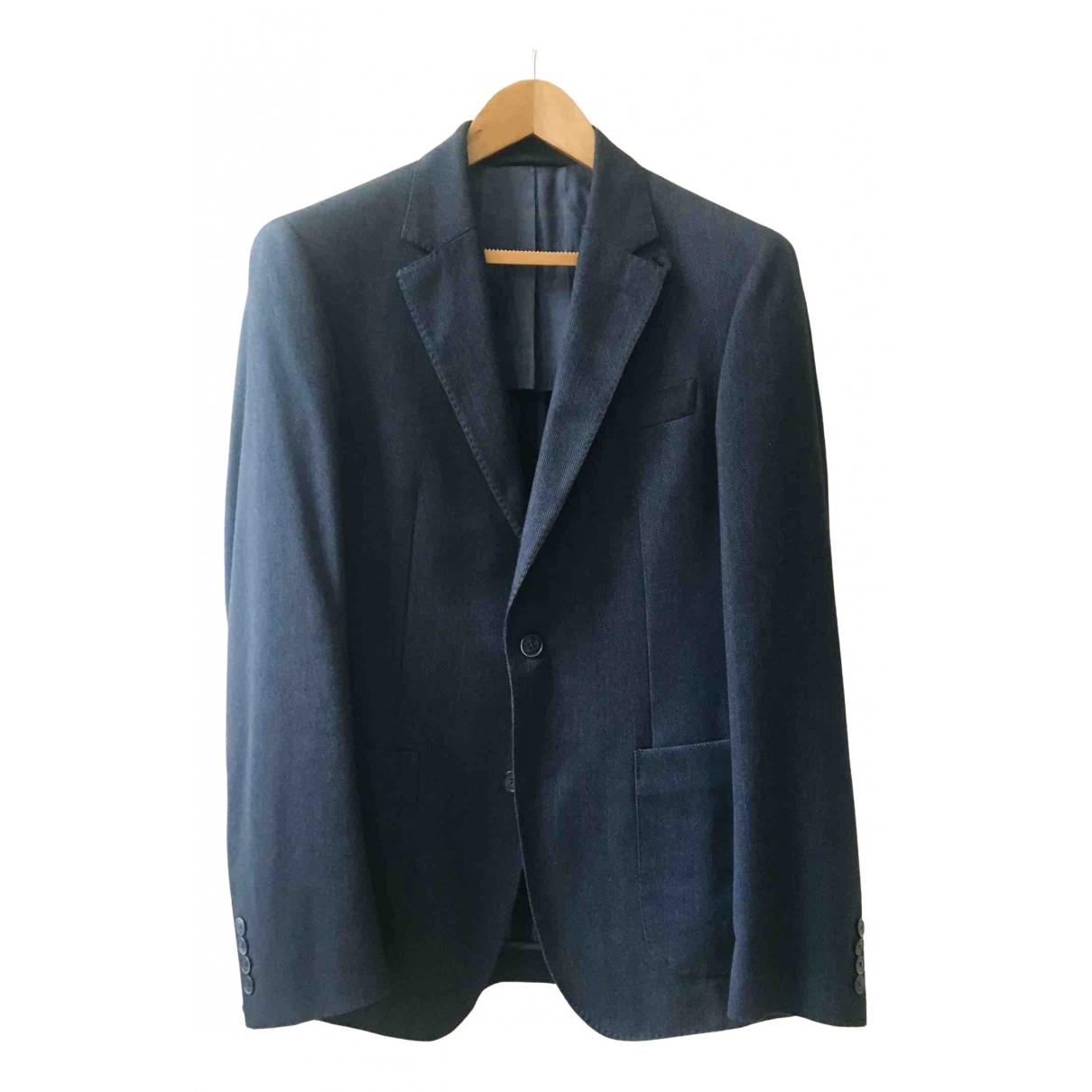 Hackett London - Vestes.Blousons   pour homme en coton - bleu