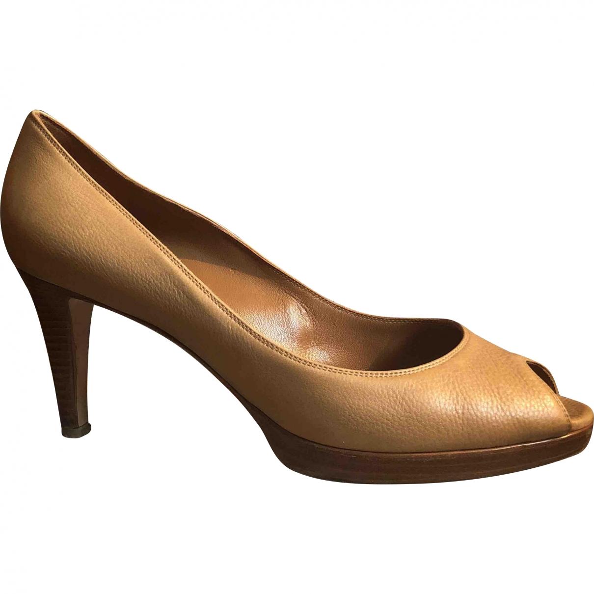 Gianvito Rossi - Escarpins   pour femme en cuir - beige