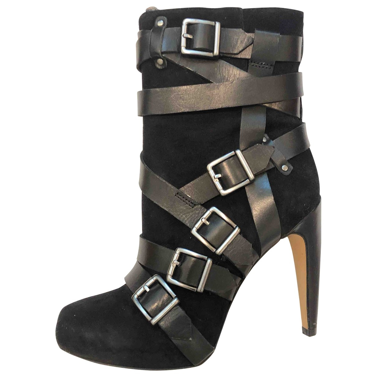 Sam Edelman \N Black Suede Boots for Women 6 US