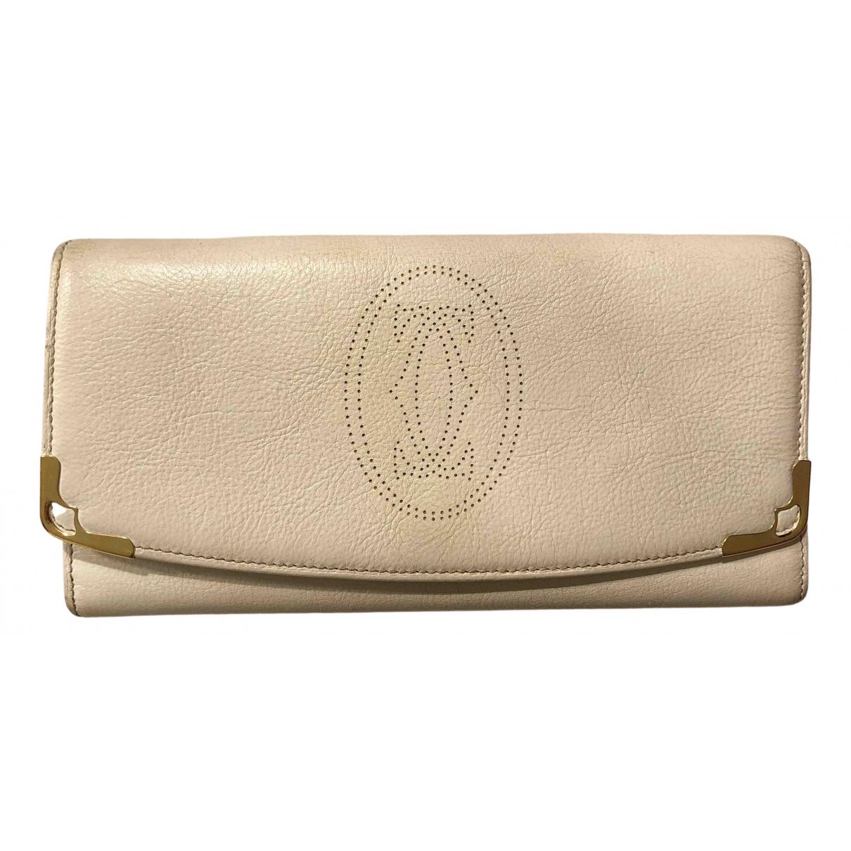 Cartier - Portefeuille   pour femme en cuir - blanc