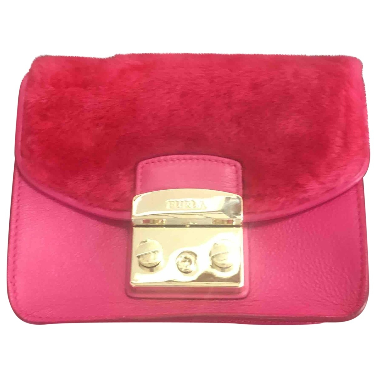 Furla Metropolis Pink Leather Clutch bag for Women \N