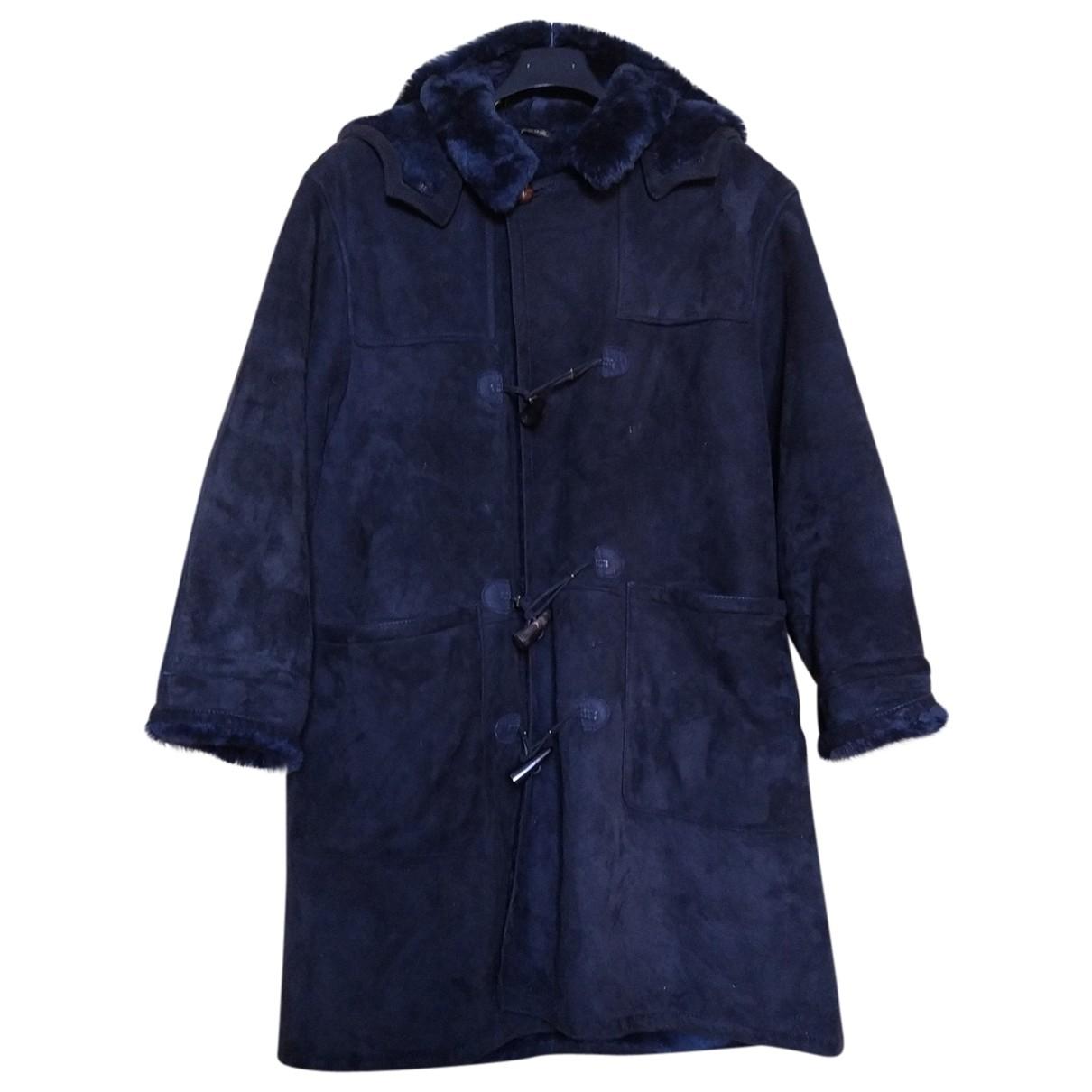 - Manteau Oversize pour homme en mouton - bleu