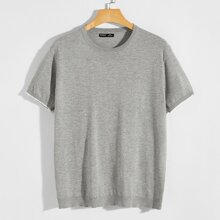 Guys Contrast Cuff Knit Top