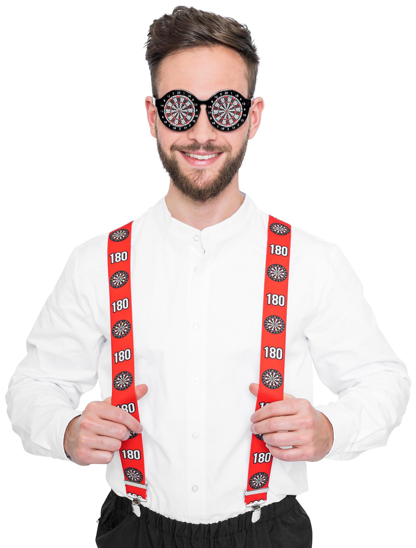 Kostuemzubehor Hosentraeger Darts Farbe: multicolor bzw. bunt