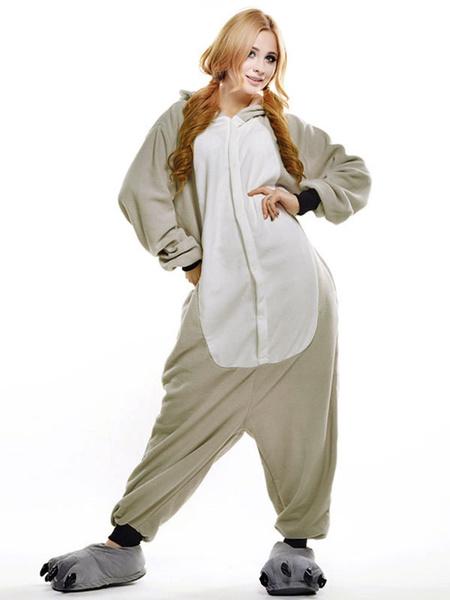 Milanoo Disfraz Halloween Traje de la mascota sintetico de Koala gris  Halloween