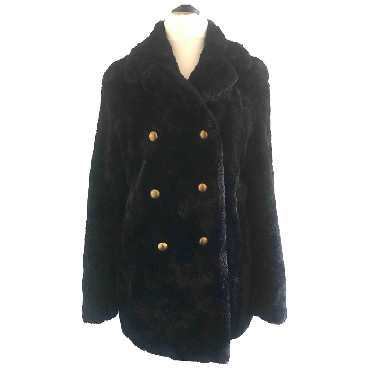 Pinko \N Black Faux fur jacket for Women 42 IT