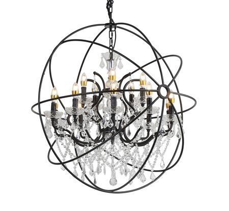 9849/10+5P Chandelier with 120 Voltage in Rustic