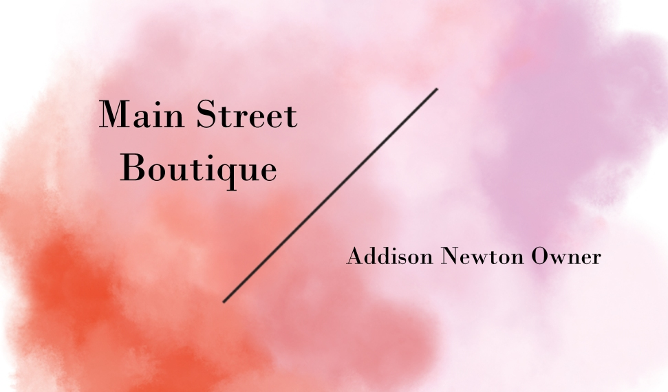 Retail & Fashion Business Cards, Set of 40, Silk Rounded, Card & Stationery -Watercolor Wash