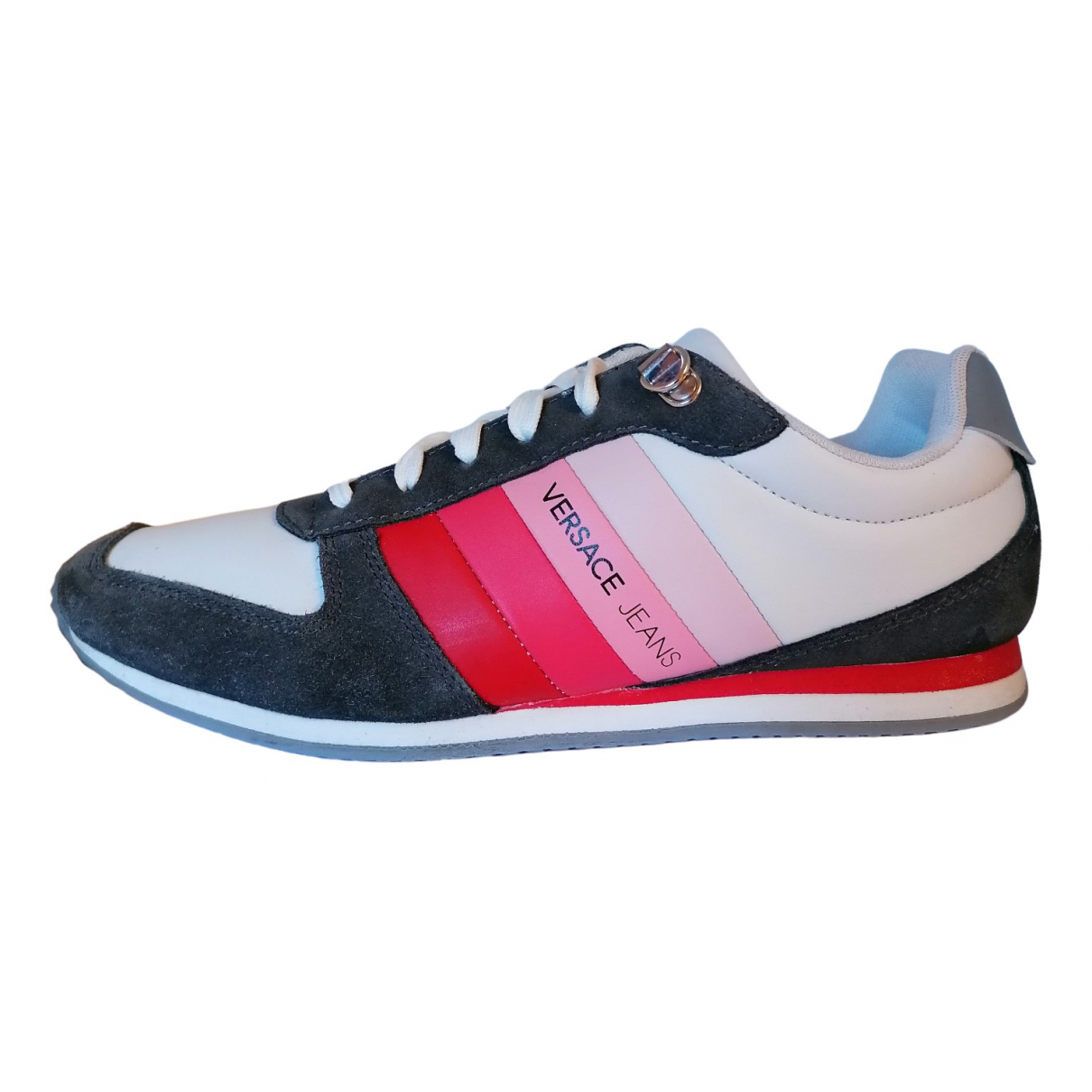Versace Jeans \N White Leather Trainers for Men 40 EU