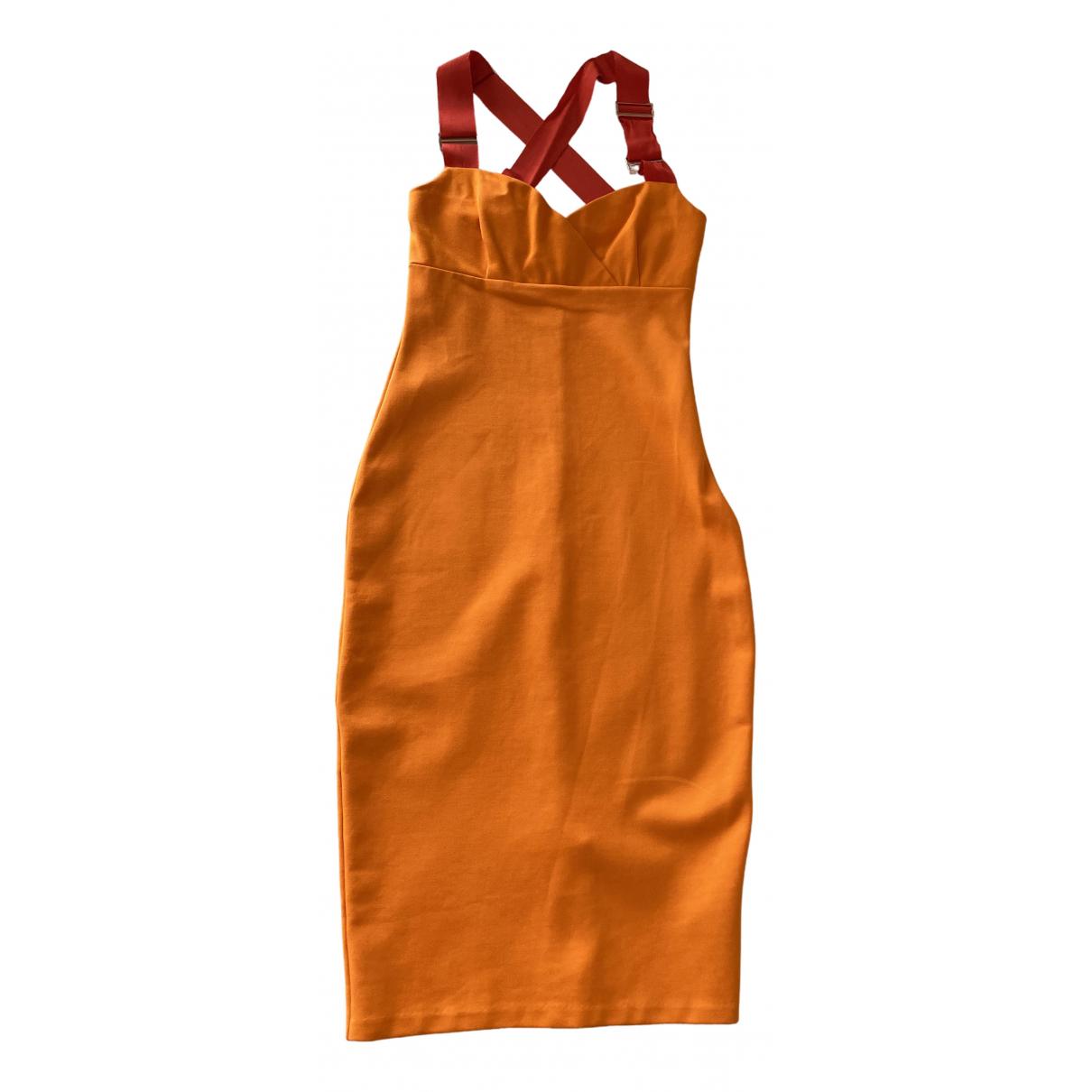 Ted Baker \N Kleid in  Orange Viskose