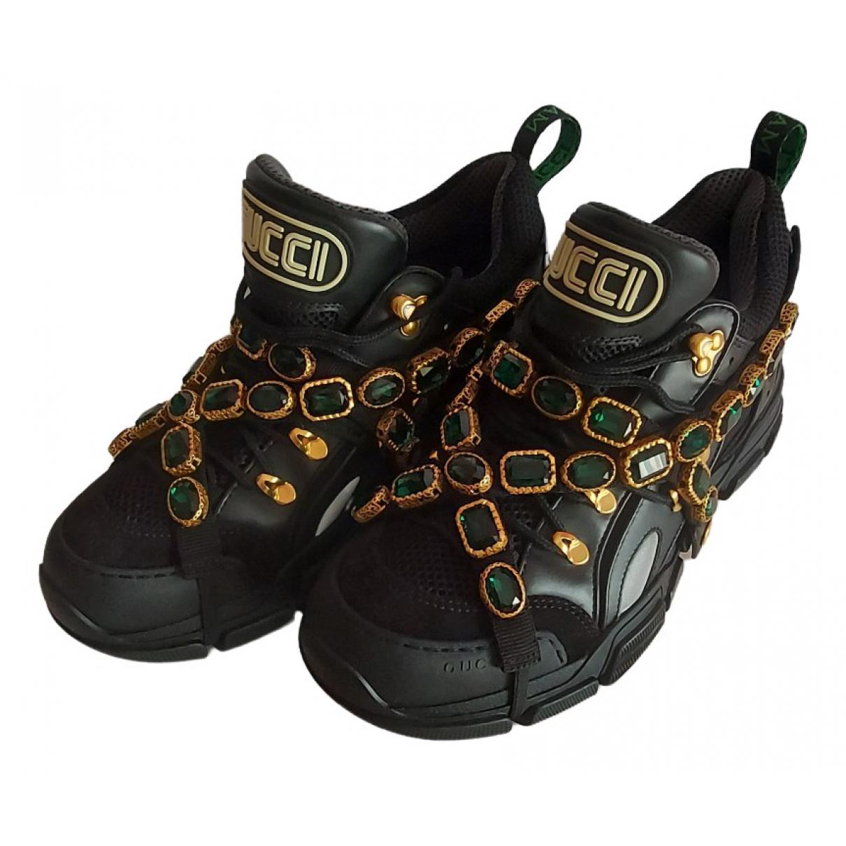 Gucci - Baskets Flashtrek pour homme en suede - noir