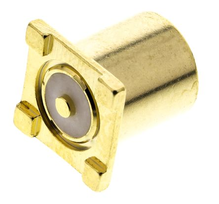 TE Connectivity , Greenpar Straight 50Ω Surface Mount Coaxial Connector, jack, Gold, Solder Termination