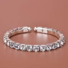 Pulsera con diamante de imitacion