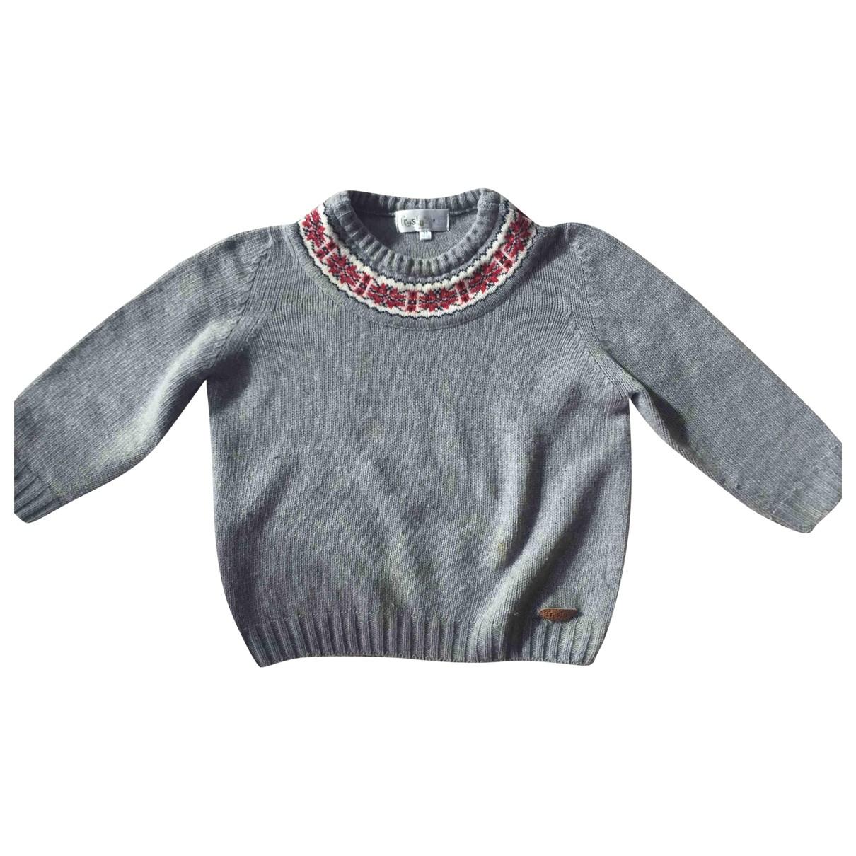 - Pull   pour enfant en laine - gris