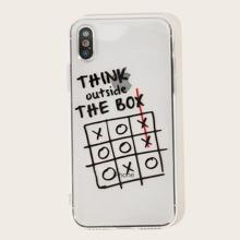 iPhone Huelle mit Buchstaben Muster