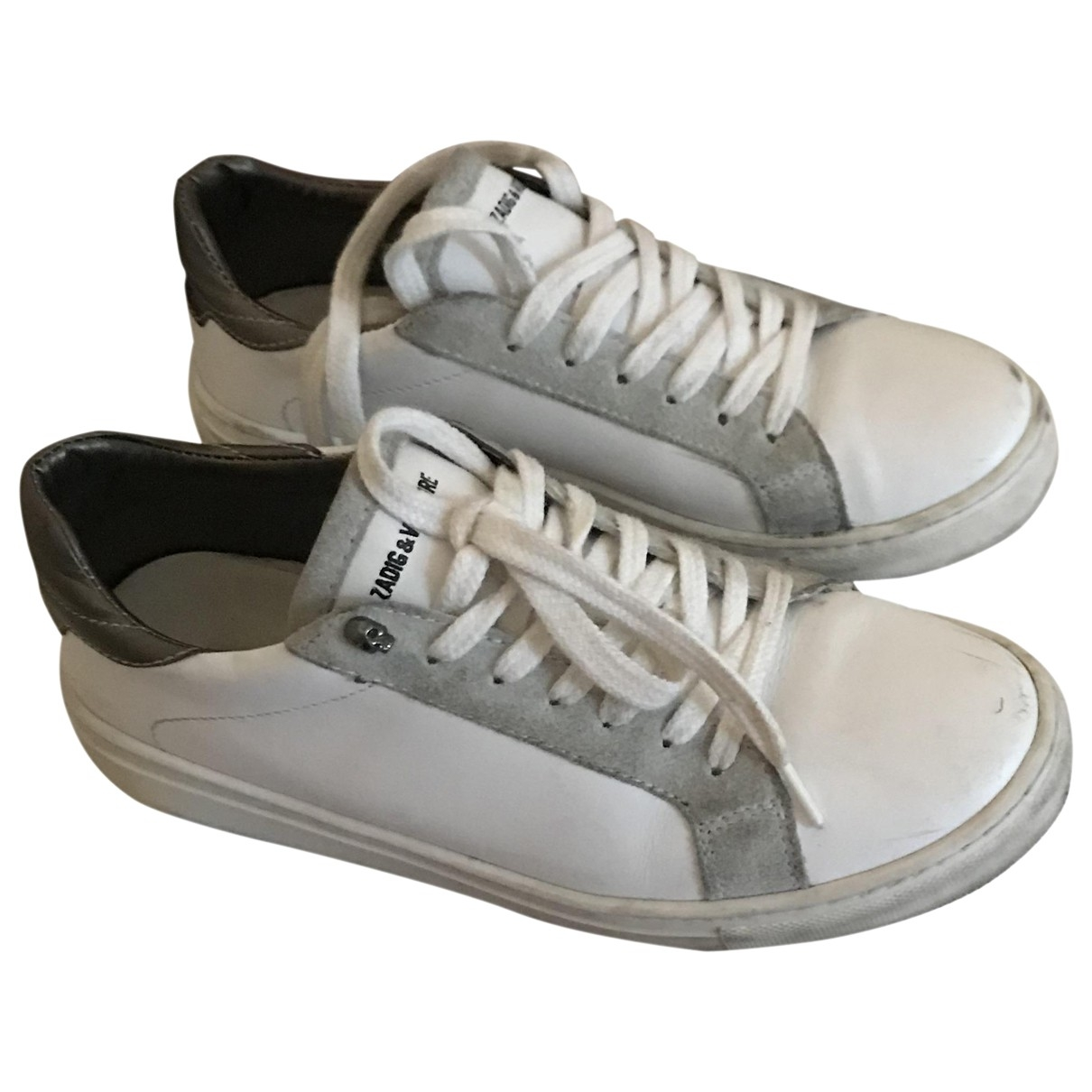 Zadig & Voltaire \N White Leather Trainers for Women 36 EU