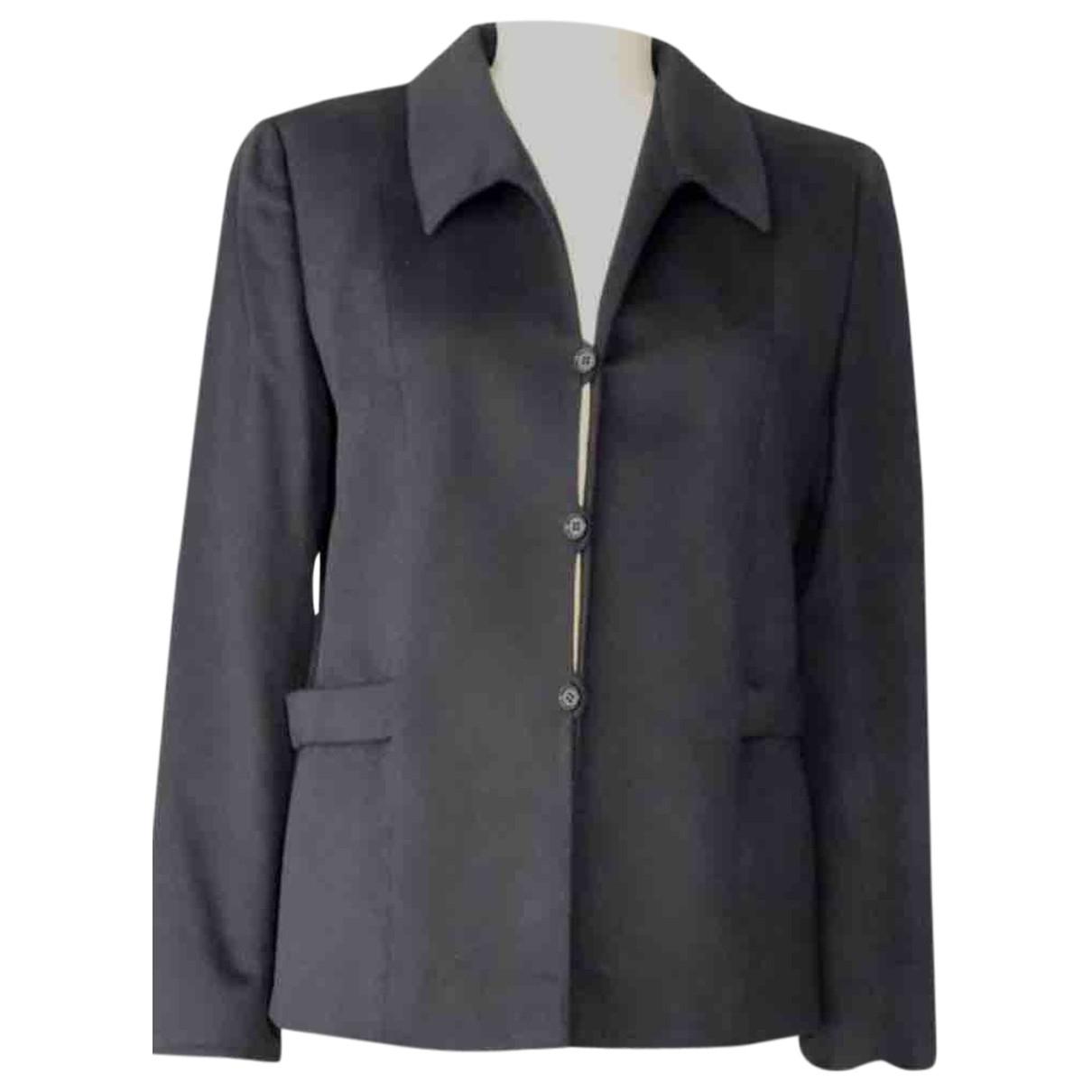 Valentino Garavani \N Navy Cashmere jacket for Women 40 IT
