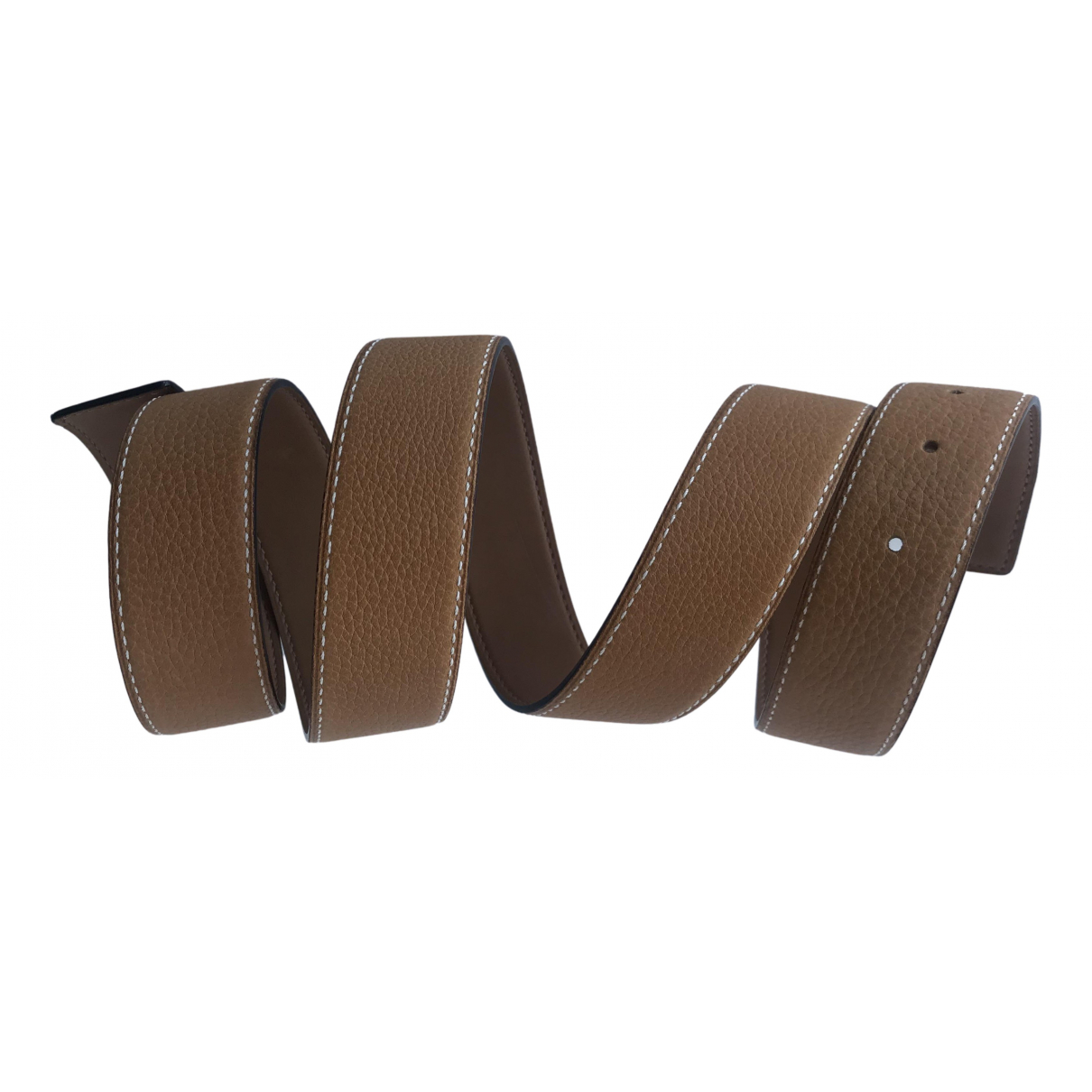 Hermes Cuir seul / Leather Strap Guertel in  Kamel Leder