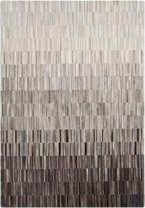 Outback OUT-1010 2 x 3 Rectangle Modern Rug in Medium Gray  Ivory  Camel