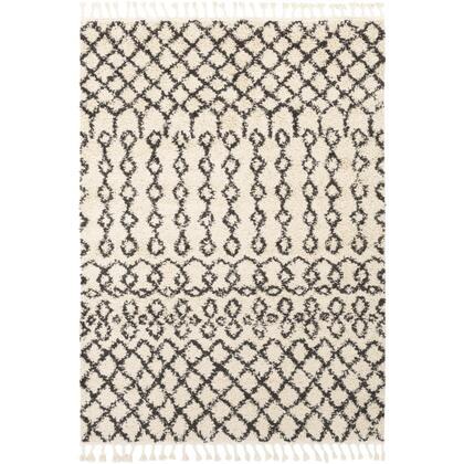 Berber Shag BBE-2309 9' x 12' Rectangle Global Rug in Charcoal