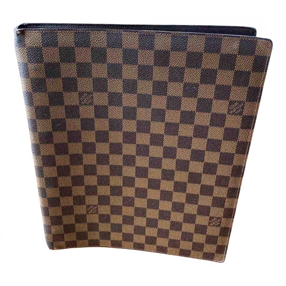 Louis Vuitton - Objets & Deco Couverture dagenda GM pour lifestyle en toile - marron