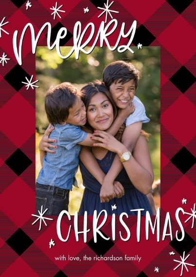 Christmas Photo Cards 5x7 Cards, Premium Cardstock 120lb, Card & Stationery -Christmas Stars by Tumbalina