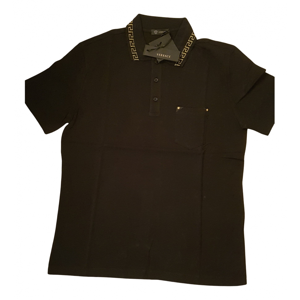 Versace N Black Cotton T-shirts for Men M International