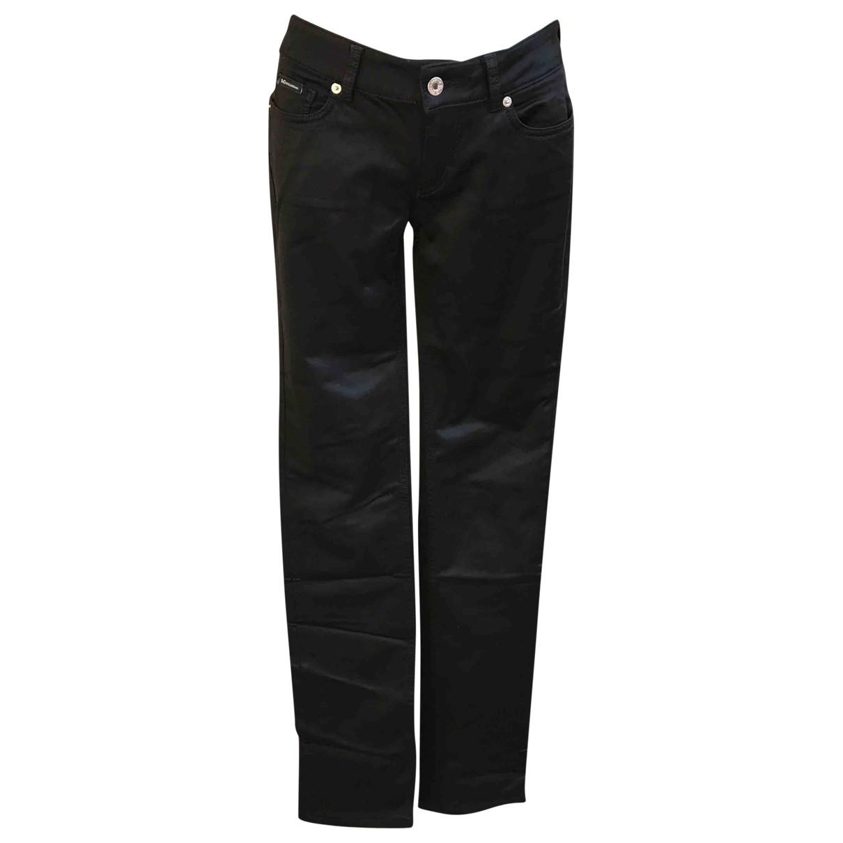 D&g \N Black Cotton Trousers for Women 40 IT