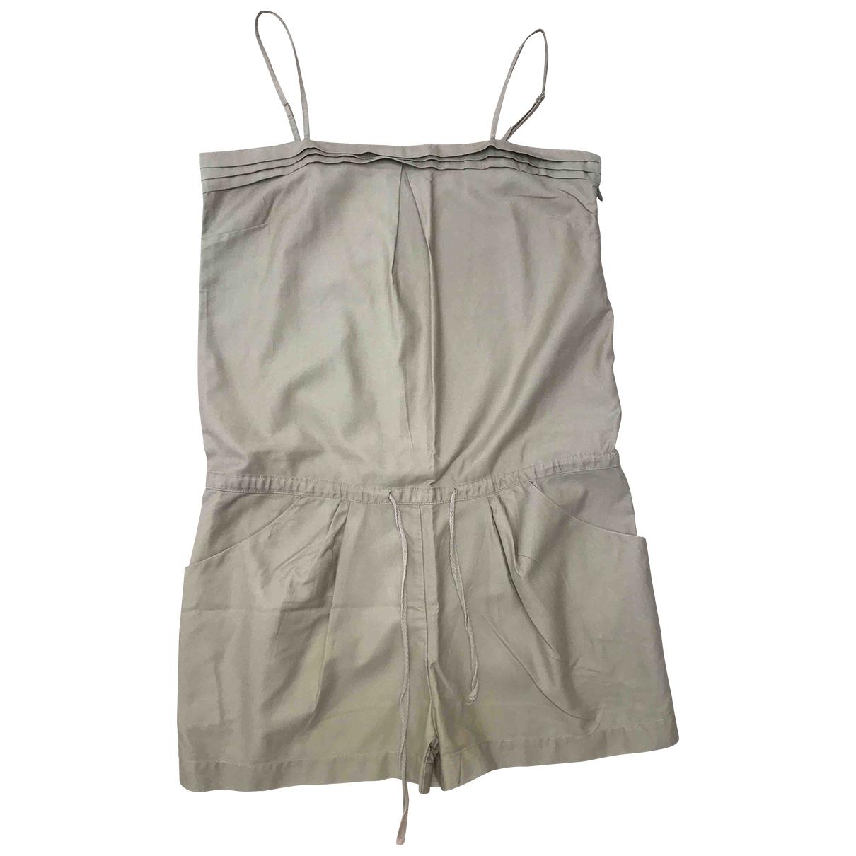 Sandro \N Beige Cotton jumpsuit for Women 2 0-5