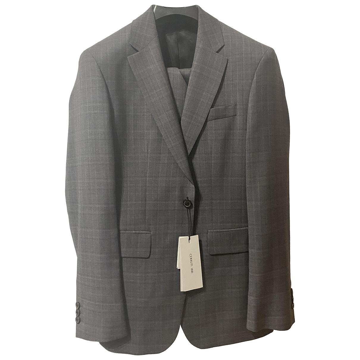Cerruti \N Anthracite Wool Suits for Men 48 IT