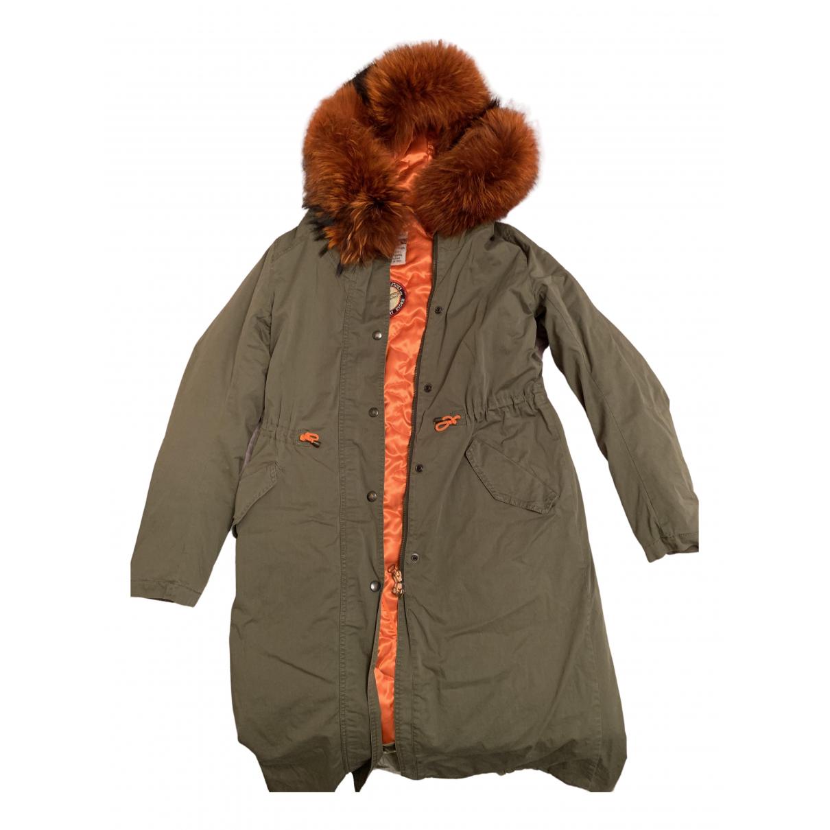 History Repeats N Khaki Cotton coat for Women 44 IT