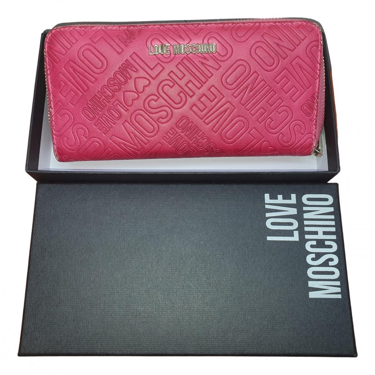 Moschino Love \N Portemonnaie Rosa