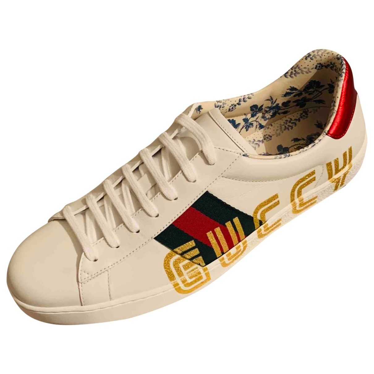 Gucci Ace White Leather Trainers for Men 46 EU