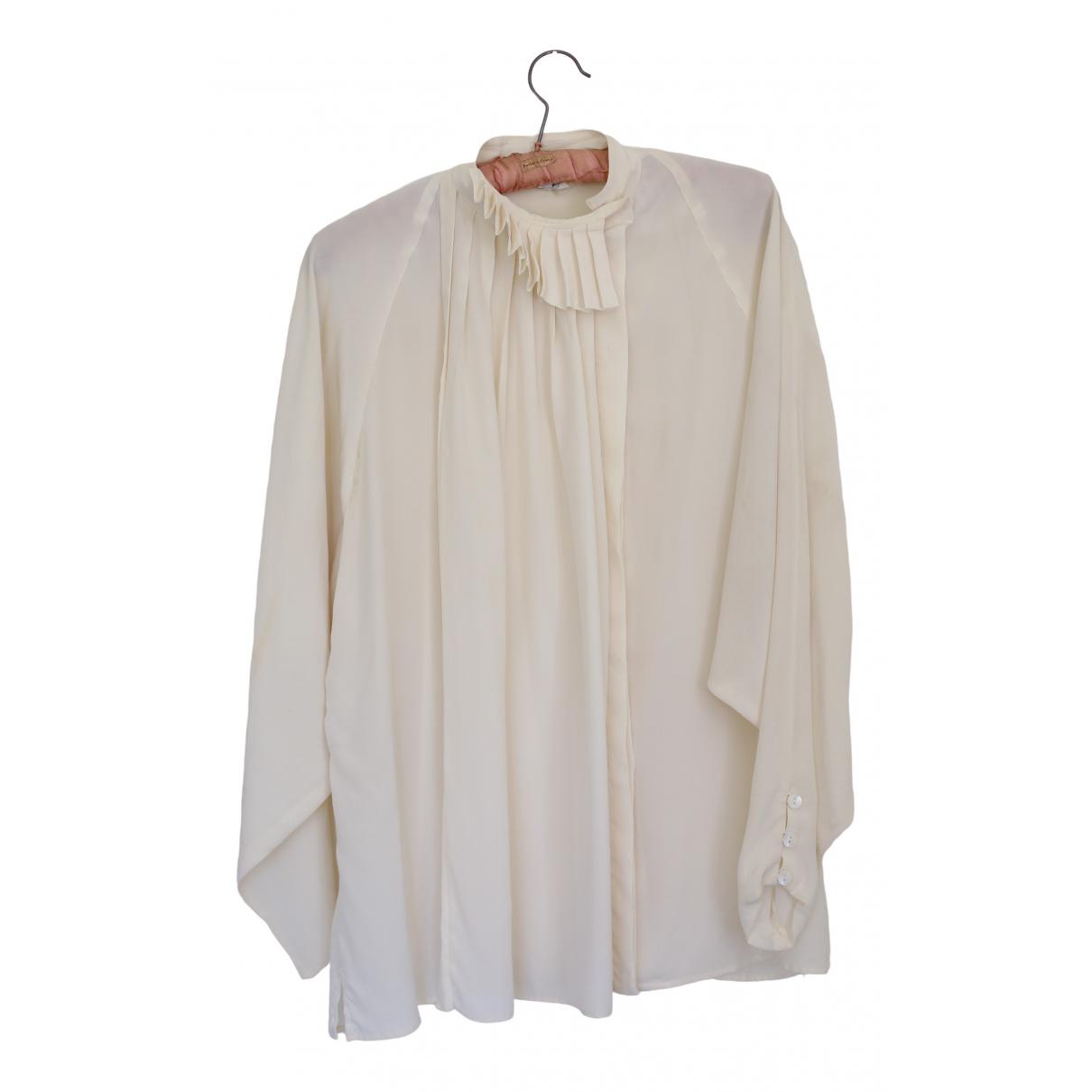Gucci \N Beige Silk  top for Women 44 IT