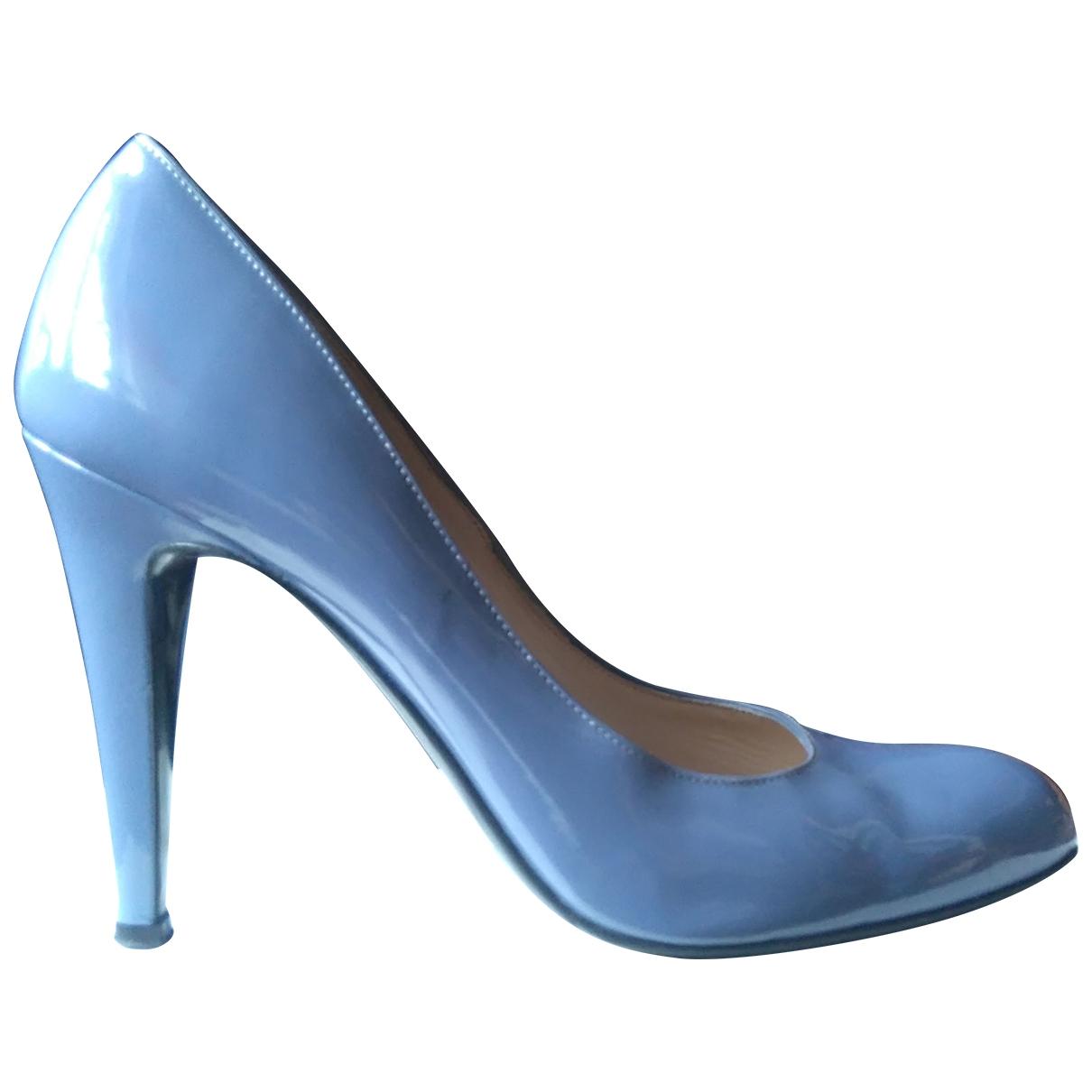 Bally - Escarpins   pour femme en cuir verni - bleu