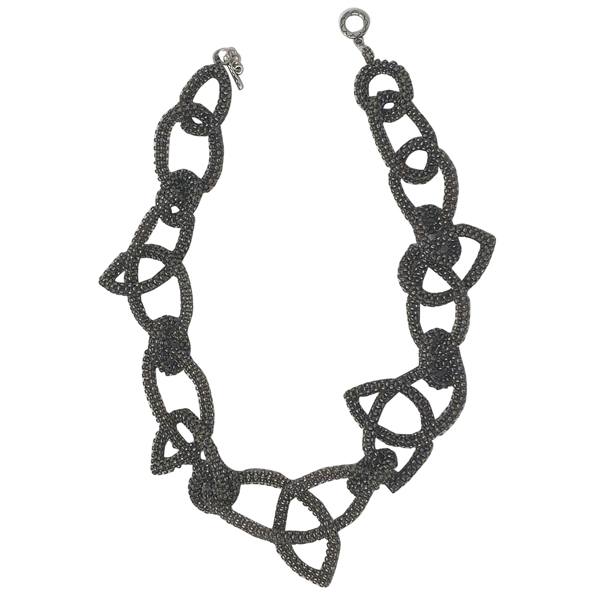 Non Signé / Unsigned \N Grey Glass necklace for Women \N