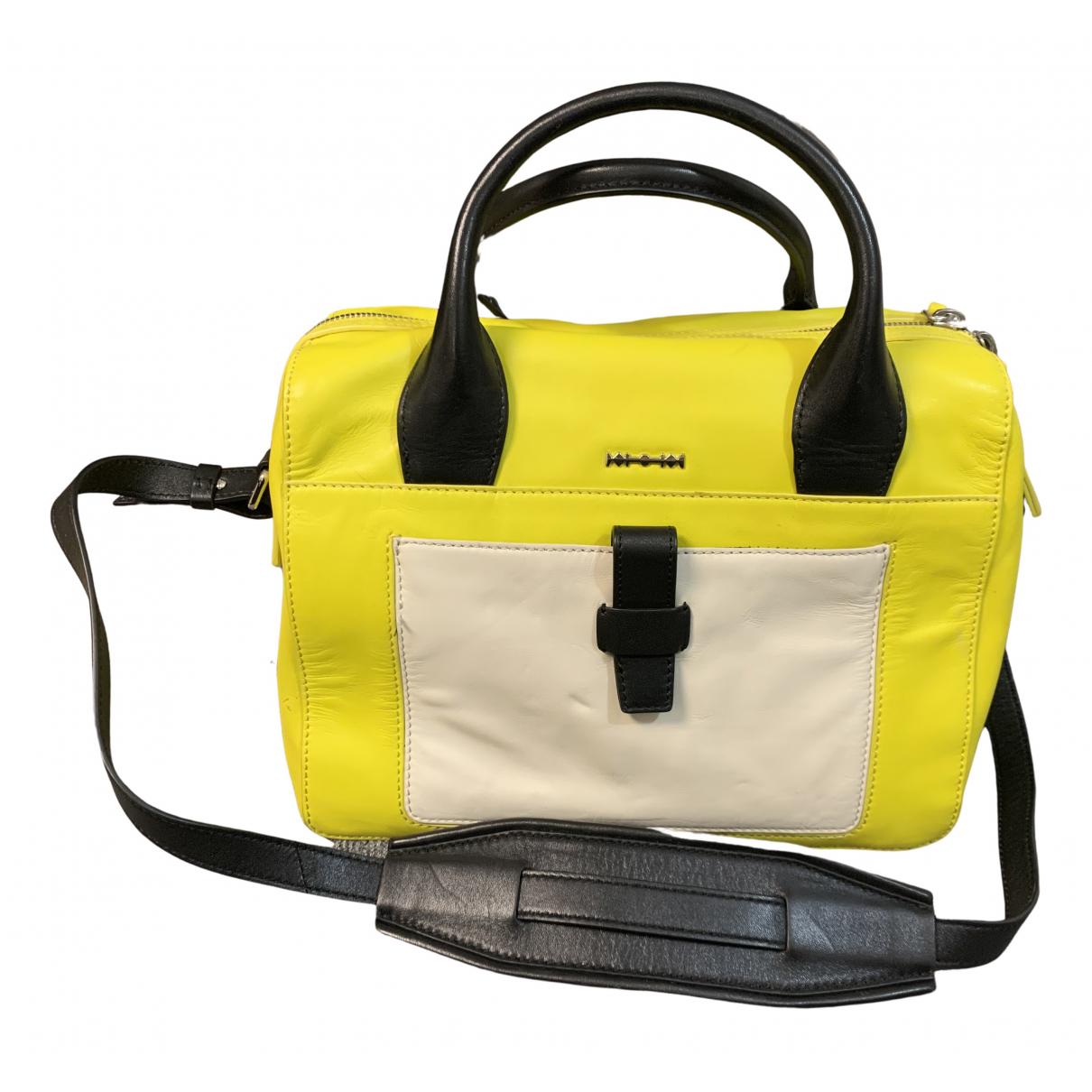 Mcq \N Yellow Leather handbag for Women \N