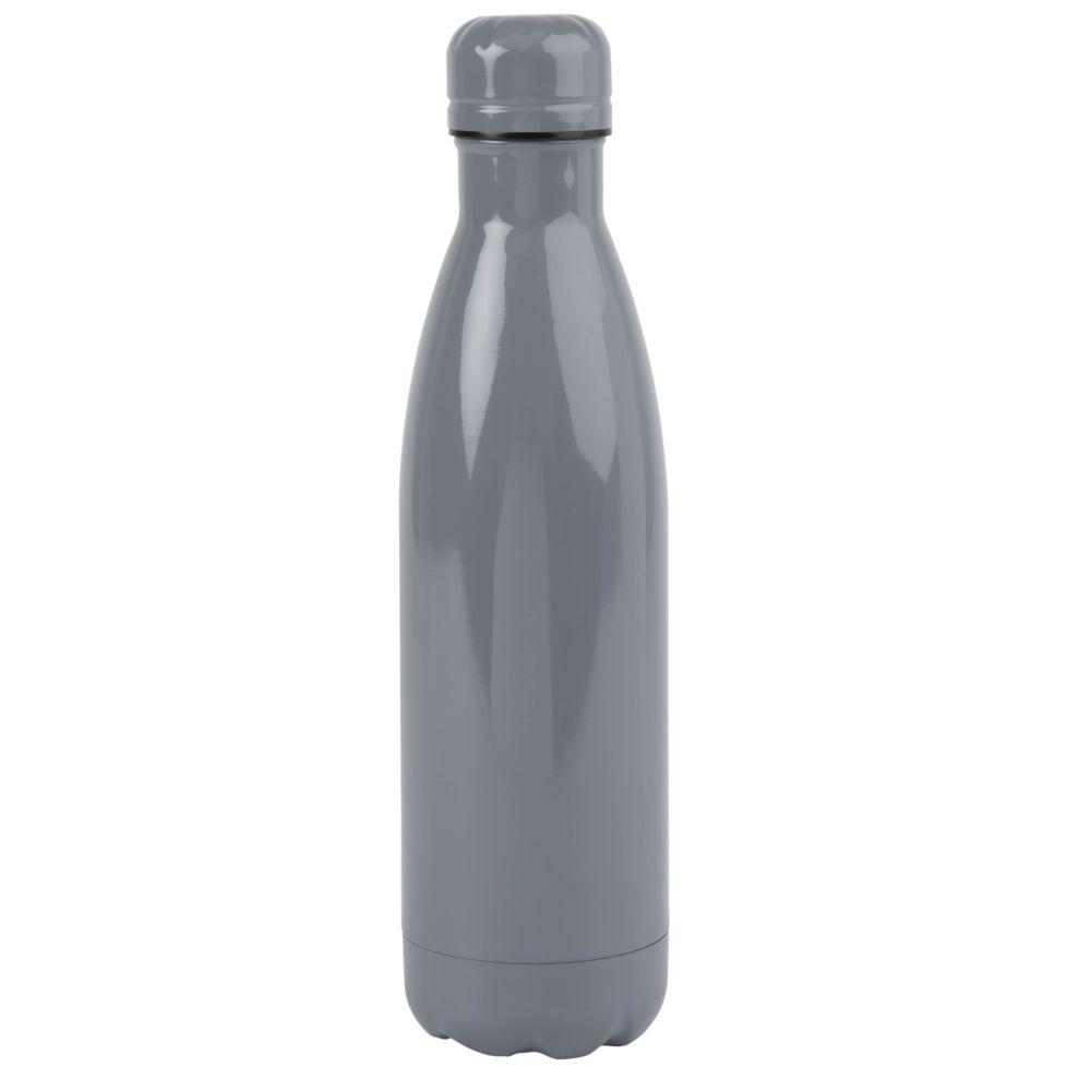 Thermosflasche aus Stahl, grau