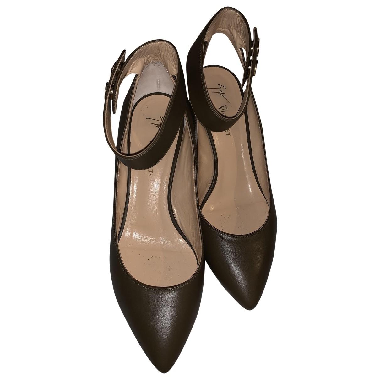 Vionnet \N Green Leather Heels for Women 40 EU