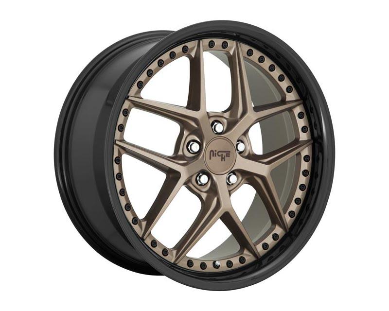 Niche M227 Vice Wheel 19x9.5 5X112 48mm Matte Bronze Black Bead Ring