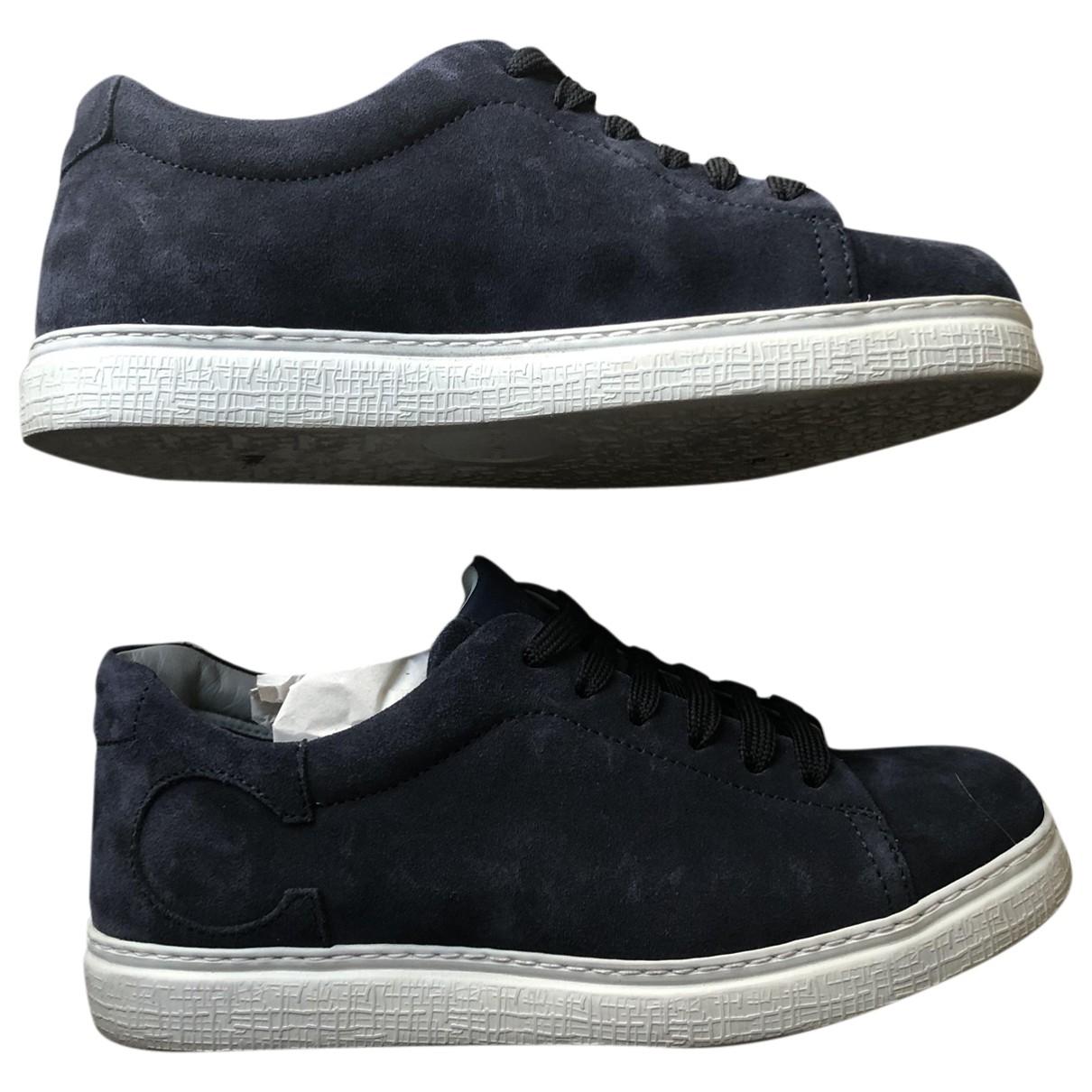 Canali \N Sneakers in  Marine Veloursleder