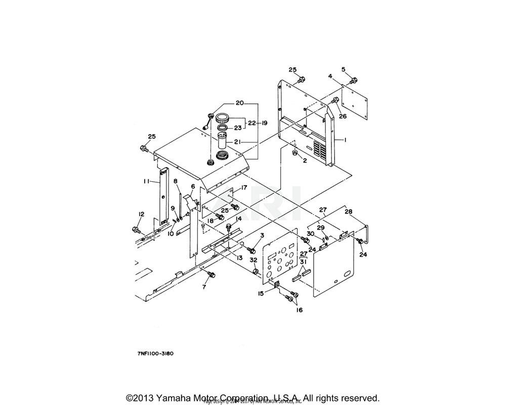 Yamaha OEM YFH-18904-17-00 GAUGE ASSY FUEL